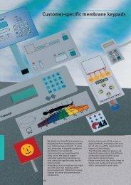 Customer-specific membrane keypads
