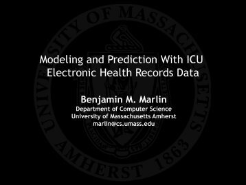 Modeling and Prediction With ICU Electronic Health Records Data