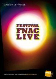 Programmation festival Fnac Live