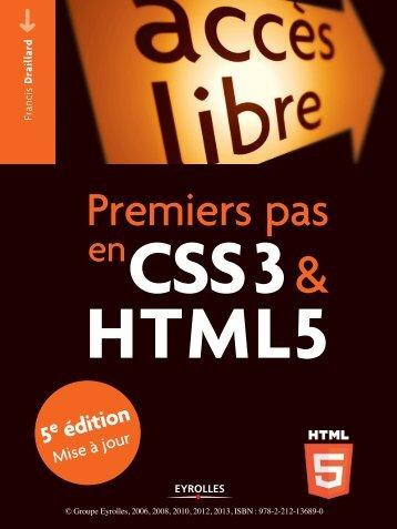 Premiers pas en CSS3 et HTML5 - Fnac