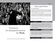 Novena to St. Josemaría Escrivá for Work - Scepter Publishers