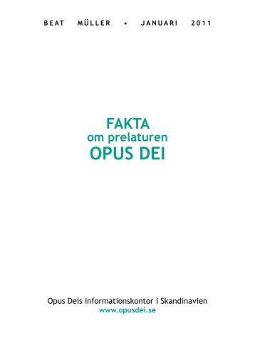 Fakta om prelaturen Opus Dei