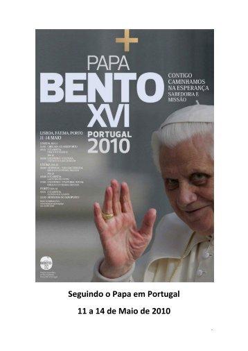 BENTO XVI em Portugal, 11 a 14 de Maio de 2010 - Oratorio S ...