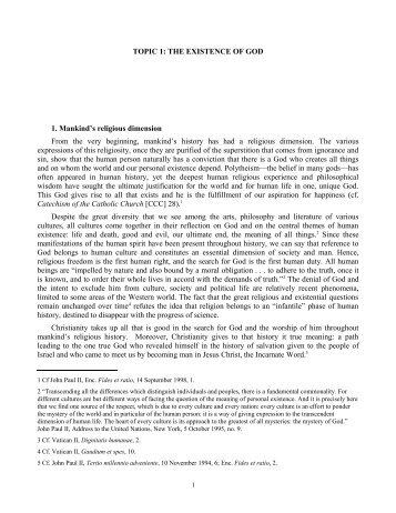 PDF: The Existence of God