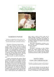 Primeras palabras del Papa Francisco (13-19 de marzo ... - Opus Dei