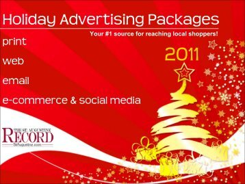 Holiday Advertising Packages - The St. Augustine Record