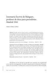 Josemaría Escrivá de Balaguer, profesor de ética para ... - ISJE