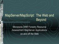 MapServer/MapScript - MapServer Users Meeting