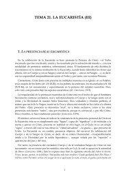 TEMA 21. LA EUCARISTÍA (III)