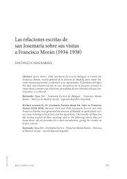 Las relaciones escritas de san Josemaría sobre sus visitas a ... - ISJE