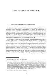 TEMA 1. LA EXISTENCIA DE DIOS - Opus Dei