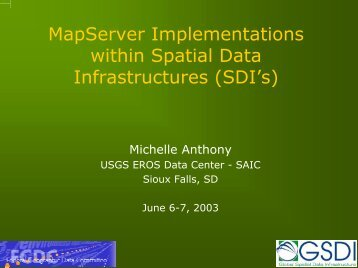 MapServer Implementations within Spatial Data Infrastructures \(SDI's\)
