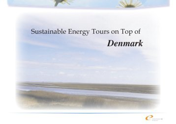 Sustainable Energy Tours on Top of Denmark - Energi ...