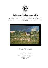 Steinalderlokalitetens varighet - Munin - Universitetet i Tromsø