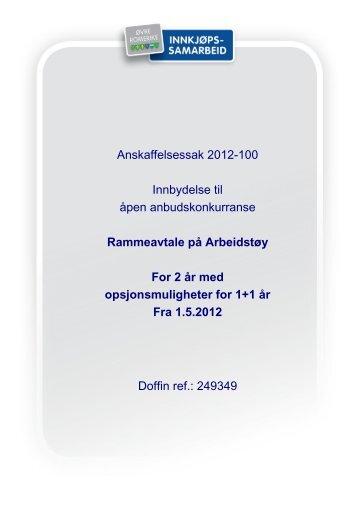 Konkurransegrunnlag Arbeidstøy - Øvre Romerike Utvikling