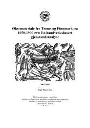Øksemateriale fra Troms og Finnmark, ca 1050-1900 evt - Munin ...