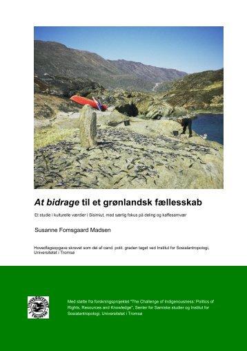 At bidrage til et grønlandsk fællesskab - Munin - Universitetet i Tromsø