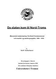 Da staten kom til Nord-Troms - Munin - Universitetet i Tromsø