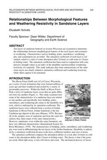 Relationships Between Morphological Features and Weathering ...