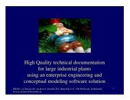 High Quality technical documentation for large industrial ... - ER 2011
