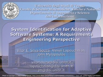 System Identification for Adaptive Software Systems: A ... - ER 2011