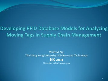 Developing RFID Database Models for Analysing Moving ... - ER 2011