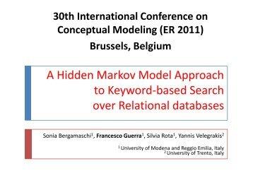 A Hidden Markov Model Approach to Keyword-based ... - ER 2011