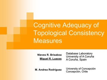 Cognitive Adequacy of Topological Consistency Measures - ER 2011