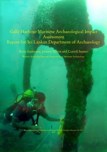 Galle Harbour Maritime Archaeological Impact Assessment Report ...