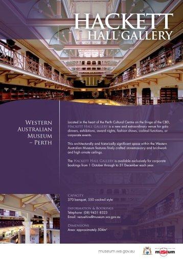 Hackett Hall Gallery - Western Australian Museum