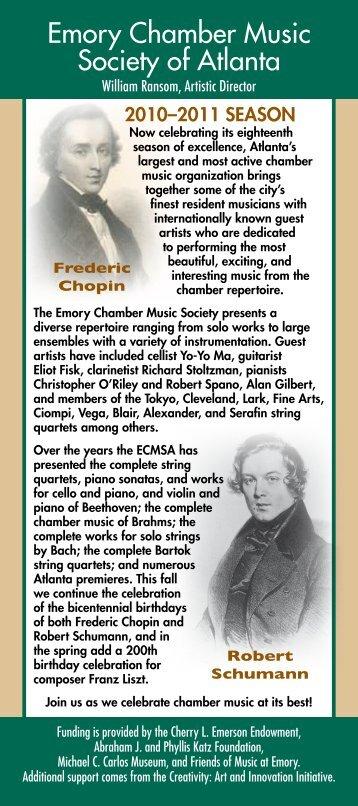 Emory Chamber Music Society of Atlanta - Music at Emory