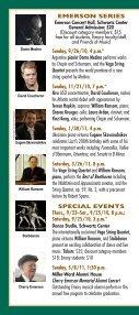 Emory Chamber Music Society of Atlanta - Music at Emory - Page 2