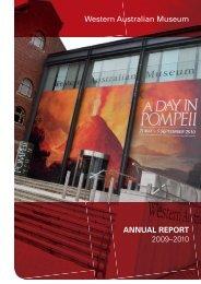 ANNUAL REPORT 2009–2010 Western Australian Museum