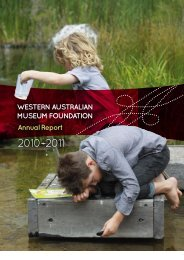 Western Australian Museum Foundation - Annual Report 2010-2011