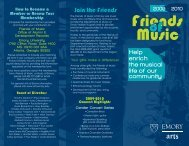 Join the Friends - Music at Emory - Emory University