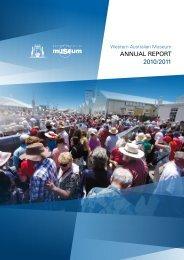 Annual Report 2010-2011 - Western Australian Museum