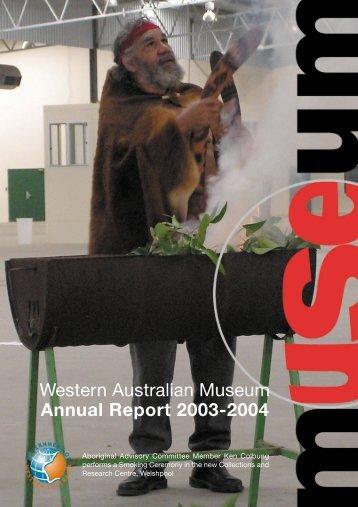 Western Australian Museum Annual Report 2003-2004