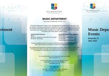 Semester 2 Term card - Music - National University of Ireland ...