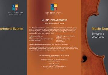 NUIM Semester Term Card - Music