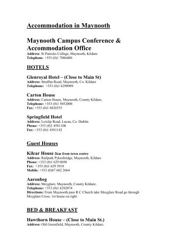 Accommodation In Maynooth - Music