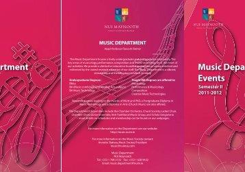 NUIM Sem II Term Card.indd - Music