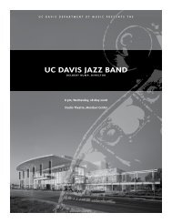 UC DaviS JaZZ BanD - UC Davis: Department of Music