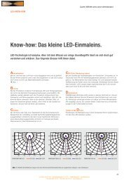 Know-how: Das kleine LED-Einmaleins. - Illuma