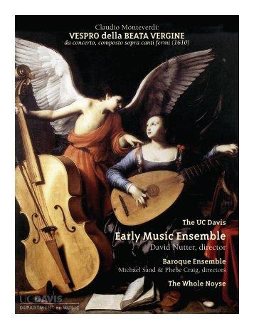 Early Music Ensemble - UC Davis: Department of Music