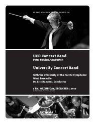 UCD Concert Band University Concert Band - UC Davis ...