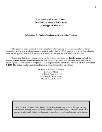 University of North Texas - UNT College of Music - University of ...