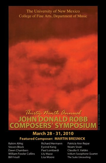 39th Annual Composers' Symposium Program - Department of ...