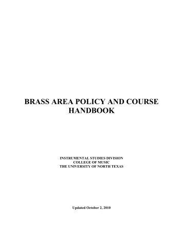 Brass - UNT College of Music - University of North Texas