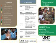 UNT Ethnomusicology/Anthropology Study Abroad - College of Music