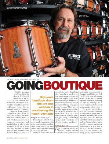 GOINGBOUTIQUE - Music Inc. Magazine